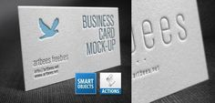 Letterpress business card Mockup Free PSD