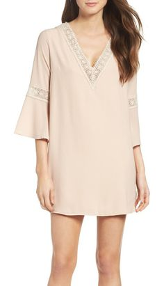 mary & mabel lace trim dress by MARY AND MABEL. A flowy trapeze dress effortlessly goes from day to night.