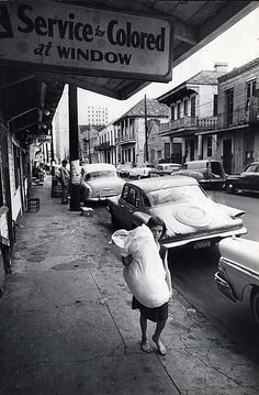 Leonard Freed, New Orleans, Segregation in services and shops, Magnum Photos Photographer Portfolio Photos Vintage, Old Photos, Leonard Freed, Free Photography, White Photography, Vintage Photography, Photographer Portfolio, New Orleans Louisiana, Feminism