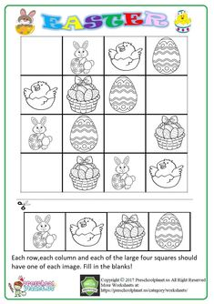 4 Easter Puzzles for Kids Activities Worksheets Sudoku worksheets PDF √ Easter Puzzles for Kids Activities Worksheets . 4 Easter Puzzles for Kids Activities Worksheets . First Grade Easter Worksheets in Easter Puzzles, Easter Worksheets, Addition Worksheets, Number Worksheets, Easter Printables, Puzzles For Kids, Worksheets For Kids, Kindergarten Worksheets, Activities For Kids