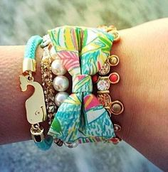 #DIY Preppy Bow Bracelet with  thrifted fabrics by #ShopWithPippa