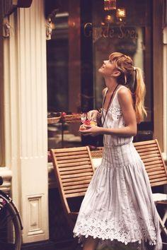Curious girl roaming town - story inspiration, writing inspiration, character inspiration.