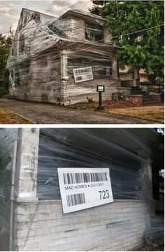 wrapped up house