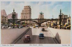 Cartão-postal com imagem do Viaduto Sta. Ifigênia (Foto: Werner Haberkorn/Fotolabor)