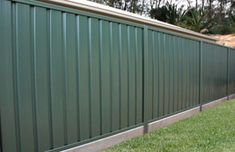 Under Fence Sleepers - Concrete Sleepers SydneyConcrete Sleepers Sydney Farm Fence, Backyard Fences, Fence Gate, Outdoor Landscaping, Fencing, Corrugated Metal Fence, Metal Fence Panels, Fence Design, Garden Design