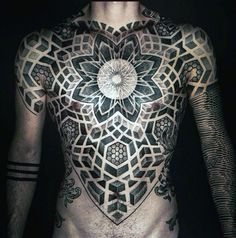 Chest Cool Mens Sacred Geometry Mens Tattoo Inspiration