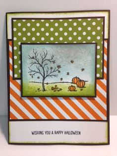 Happy Scenes, Halloween Card, Stampin' Up!, Rubber Stamping, Handmade Cards