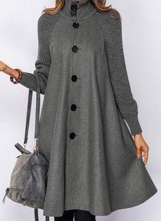 Long Sleeve Other Buttons Duffle Coats – Hijab Fashion 2020 Iranian Women Fashion, Muslim Fashion, Hijab Fashion, Fashion Coat, Mode Abaya, Mode Hijab, Winter Coats Women, Coats For Women, Clothes For Women