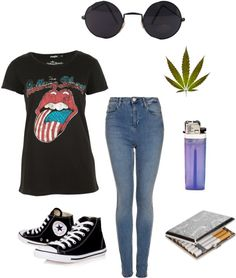 """""""Stoner Delight"""" by deannarosee ❤ liked on Polyvore"""
