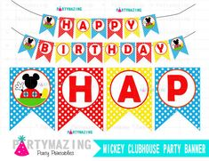 Mickey Mouse BannerPrintable Club house Mickey by Partymazing