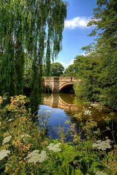 River Rye beside Nunnington Hall, North Yorkshire, England.