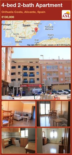 4-bed 2-bath Apartment in Orihuela Costa, Alicante, Spain ►€130,000 #PropertyForSaleInSpain