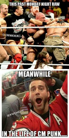 xDDD I am not going to watch wwe if cm punk doesn't come back! Jk wwe is my life lol
