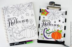FREE Hand Lettered Happy Halloween Coloring Page Hi Pinning Mama readers! I'm Dawn from Dawn Nicole Designs and I'm back this month with a free coloring page for Halloween. Is it a wee …