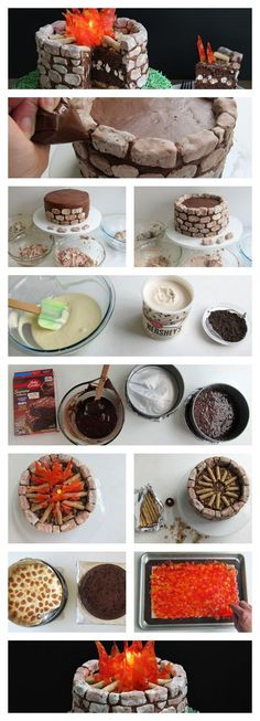 DIY Fire Pit S'mores Cake