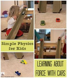 Science for Kids: Preschool Physics Experiment with Cars and Ramps! A fun learning activity for kids!