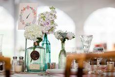 eclectic vintage bottle wedding centerpieces  ~  we ❤ this! moncheribridals.com