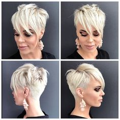 Today we have the most stylish 86 Cute Short Pixie Haircuts. We claim that you have never seen such elegant and eye-catching short hairstyles before. Pixie haircut, of course, offers a lot of options for the hair of the ladies'… Continue Reading → Edgy Short Hair, Short Sassy Haircuts, Haircuts With Bangs, Short Hairstyles For Women, Short Hair Cuts, Cool Hairstyles, Short Hair Styles, Pixie Cuts, Haircut Short