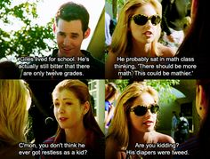 His diapers were tweed! Lol! <3 Buffy + Willow + Xander