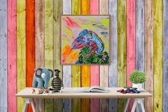 Buy Chameleon in freestyle colours, Acrylic painting by Silvie Tripes on Artfinder. Discover thousands of other original paintings, prints, sculptures and photography from independent artists.