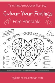This free printable colouring sheet and activity will help kids learn to name and recognize their emotions, and help develop emotional literacy. A great activity for kids during home-schooling and at home learning to check in on the many new feelings arising due to Covid-19. #kidsactivities #kidscrafts #coloringpages #freeprintable #homeschool #socialemotionallearning #teachers #positiveparenting #emotions #emotionalintelligence #crafts Mental Health Activities, Emotions Activities, Kids Mental Health, Counseling Activities, School Counseling, Printable Activities For Kids, Preschool Activities, Free Printable Coloring Sheets, Kindness Projects