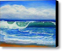 Let's Hold on to the Summer a Little While Longer with this Limited Time Promotion: A Wave To Catch Stretched Canvas Print