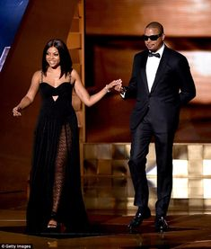 Nervous: The 46-year-old actor accompanied his on-screen ex-wife Taraji P Henson who looked strangely nervous beside him - and then even more strangely admitted as much