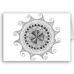zentangle mandala - lines cards by lisforllama £2.10 per card