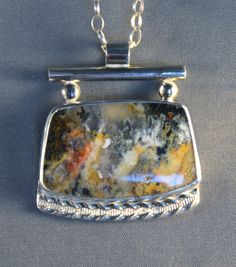 Northridge Plume Agate and Sterling Silver by DarBreeDesigns, $145.00