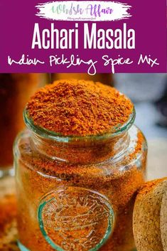 Achari Masala is a mix of Indian spices which is used to pickle variety of ingredients. This masala can be used to flavor various curries and starters. Achari Chicken, Indian Pickle Recipe, Masala Powder Recipe, Lime Pickles, Masala Spice, Garam Masala, Homemade Pickles, Homemade Seasonings, Chutney Recipes
