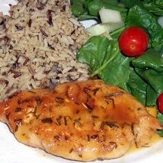 ... as delicious! Rosemary Chicken with Orange-Maple Glaze Allrecipes.com