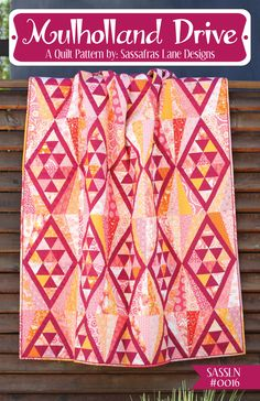 Mulholland Drive is a fun, fast, fat-quarter friendly quilt that contains diamonds, triangles and a little bit of paper-piecing. This quilt has a modern and slightly aztec feel to it and flies togethe
