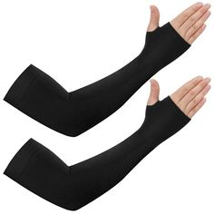 DONEN Windproof Compression Arm Sleeves in Outdoor Cycling Sport with Anti-Slip Design Pack of 1 Pair M