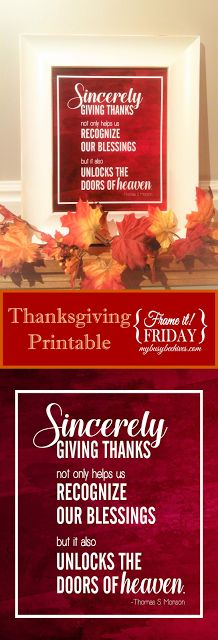 My Busy Beehives...: Sincerely Giving Thanks... {Frame It! Friday}