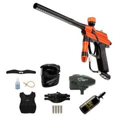 WaveToGo Azodin BLITZ 2011 Electronic Paintball Marker - Orange/Black Ultra 47ci Chest Neck Combo by Azodin. $266.95. Included 9 items in this package: 1. Azodin BLITZ 2011 Electronic Paintball Marker - Orange/Black (Description: Multi-modes of operation (CFOA Semi-Auto, NPPL Semi-Auto, Ramp PSP, & Ramp Millennium), .68 caliber, New High Performance Valve design offers a new level of air efficiency, accuracy and overall performance, Feather striker system is 30% lighter tha...