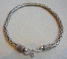 Oxidized sterling silver bracelet