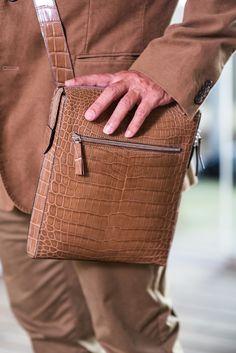 Zambezi Grace | Postman sling premium Nile Crocodile. Perfect for work and travel.