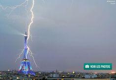 Un impressionnant impact de foudre s'est abattu sur la Tour Eiffel - Linternaute