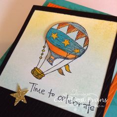Time to Celebrate, Hot Air Balloon Card, Using Stampin' Up! products created by Carolina Evans #stampinup