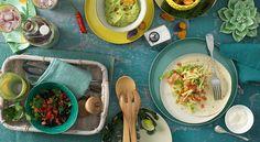 Mexican delight: tortilla, guacamole and co. Guacamole, Food Inspiration, Tacos, Ethnic Recipes, Mexico, Beans