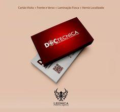Criação de Logo + Cartão Fosco com verniz localizado