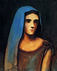 Pablo Picasso, A Woman in a Blue Veil (Portrait of Olga)