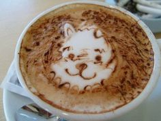winnie the pooh! i would totally drink this coffee!