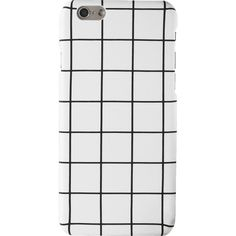 Grid Pattern Phone Case For Iphone (£3.58) ❤ liked on Polyvore featuring accessories, tech accessories and phone