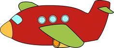 Cute Airplane | Red Airplane Clip Art Image - red airplane with green wings.
