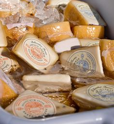Any type of cheese you want from the farmers' market...