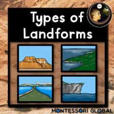 Boom Cards - Montessori - Types of Land Forms - Level 1 Student Learning, Teaching Kids, Teaching Resources, Land Forms, Booklet Template, Rocky Shore, Montessori Activities, Task Cards, Type