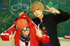 Kagura Yato & Okita Sougo-School Version- (Gintama)