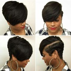 Today we have the most stylish 86 Cute Short Pixie Haircuts. We claim that you have never seen such elegant and eye-catching short hairstyles before. Pixie haircut, of course, offers a lot of options for the hair of the ladies'… Continue Reading → Short Pixie Haircuts, Short Hairstyles For Women, Straight Hairstyles, Black Hairstyles, Trendy Hairstyles, Beautiful Hairstyles, Short Quick Weave Hairstyles, Short Weave, Teenage Hairstyles