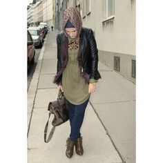 Hijab street fashion....casual wear....